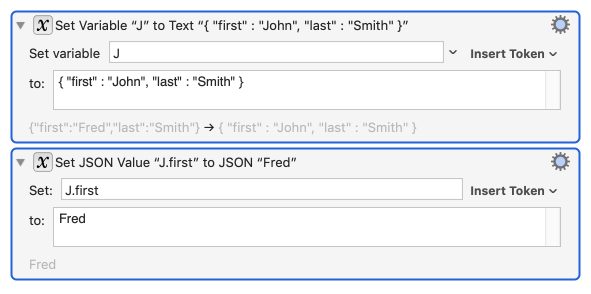 Set JSON Value