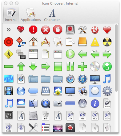 Icon Chooser Window